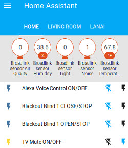 HASS learns RF and IR remote control signals for blinds, shades, window/skylight openers
