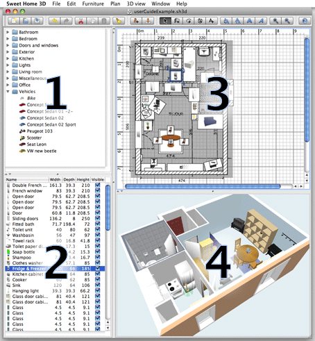 Raspberry Pi® home automation 3D plan views with Sweet Home 3D