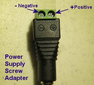 power supply adapter screw terminals are polarized