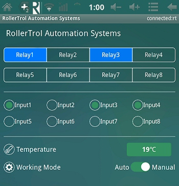 Android relay controller, temperature sensing and switch closure detection