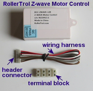 ZWAVE motor control for motorized blinds, shades, drapes, window openers and skylights, etc