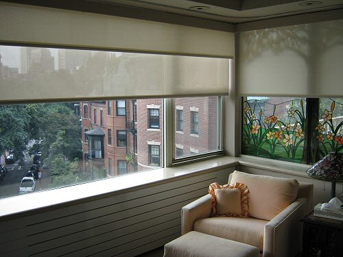 dual window shades give you a wide range of control over room lighting conditions - Motorized Roller Shades