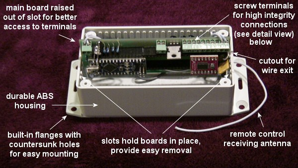 NodeSwitch™ RF remote control of relays, solenoids, motors, lights: basic instructions and wire connections