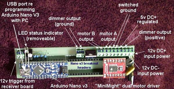 Arduino Control - LED Lighting And Blinds - Basic Instructions