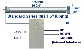 home automation software controls tubular motors for blinds, shades, etc