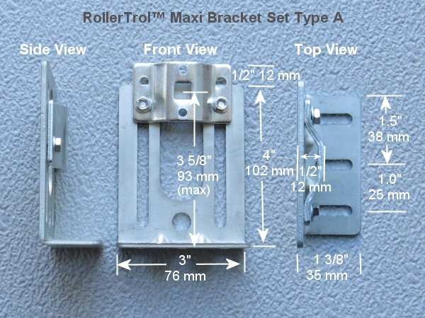 adjustable bracket dimensions for Maxi motors