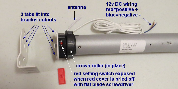 Heavy Duty 12v Motor For Large Blinds And Shades