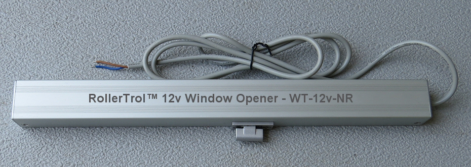 safe 12v window or skylight opener has no shock hazard