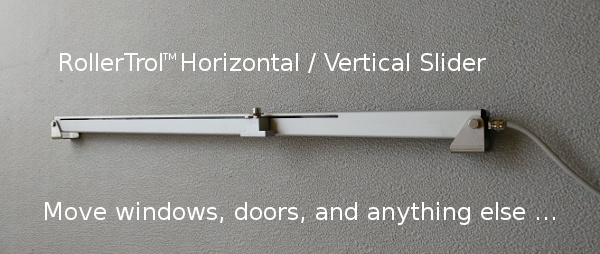 remote control window openers for horizontal and vertical slider windows