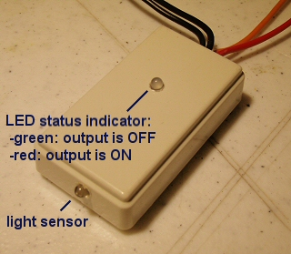 adjustable light sensor for controlling LED lighting, DC motors, actuators, etc.
