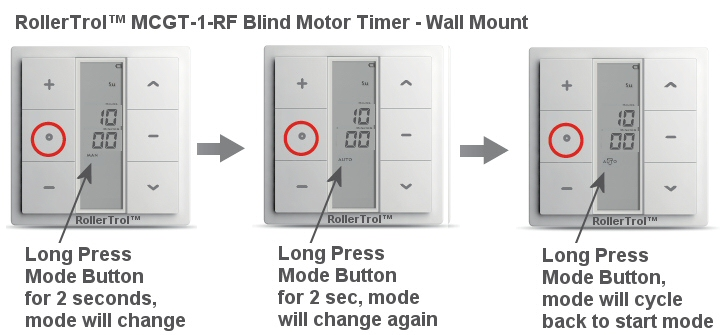 blind motor timer mode adjustment