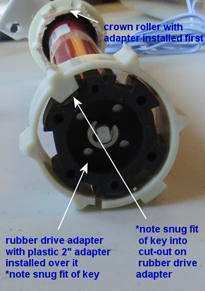 locking tube adaptors for blind motors