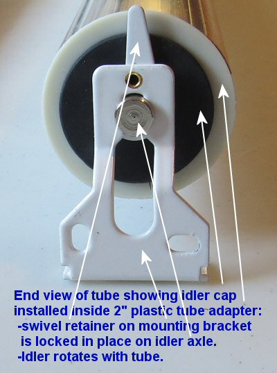 how to install tube end idler for blinds and shades