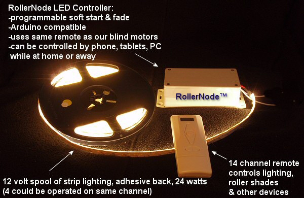 RollerNode™ part 4: programming - control drapery motors, LED lights and relays with the same remote