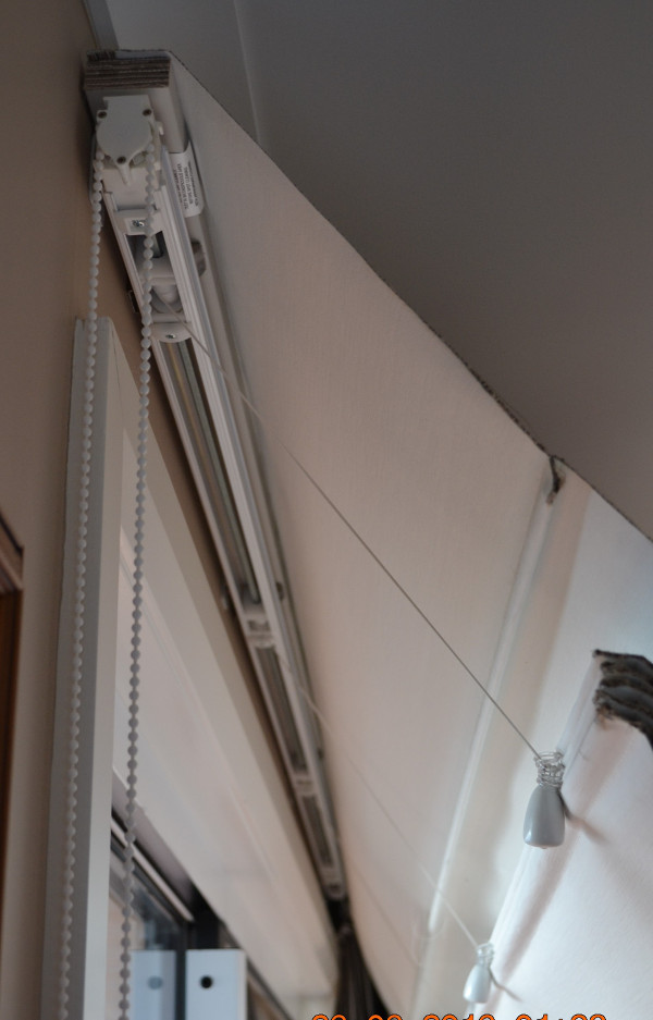 Roman blind Head Rail needs to be removed and discarded
