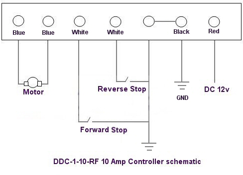 12v RF reversible controller schematic