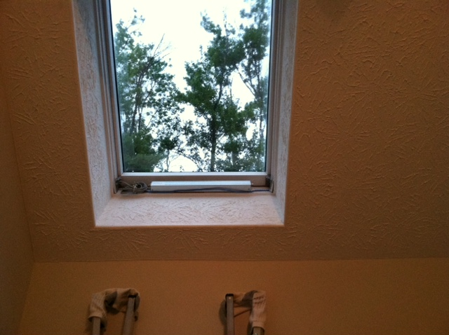 Velux™ skylight motor replacement - RollerTrol™ replacement installed