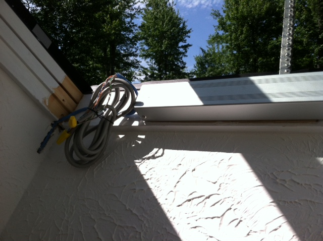 Velux™ skylight motor replacement - vertical chain extension test