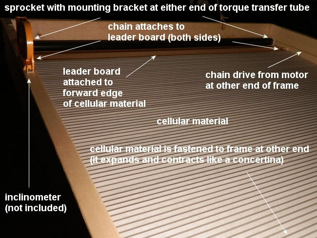 torque transfer tube and cellular material for shade system