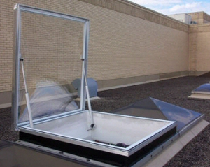 skylight opener with gas shock assistance