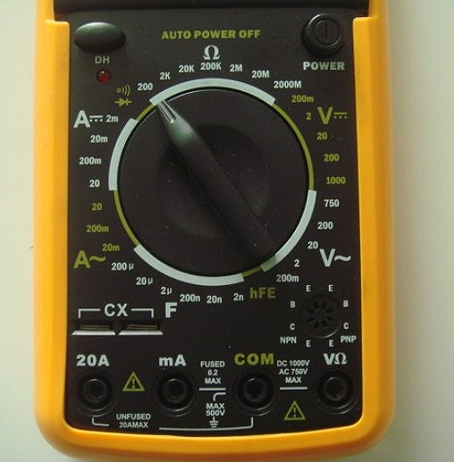 auto-off digital multimeter with beep for short circuit testing