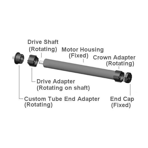 Motorized Window Blind Kit Wireless Battery