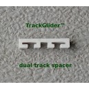 Dual Track Spacer Guide for Drapery and Curtains